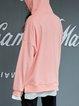 Pink Paneled Pockets Solid Hoodie