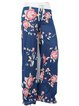 Bow Floral Casual Pants