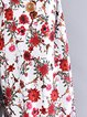 A-line Women Daily Long Sleeve Casual Floral-print Floral Casual Dress