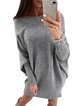 Long Sleeve Solid Knitted Sexy Off Shoulder Sweater