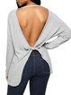 Women's Chic Backless Cozy Twist Knit Long Sleeve Top