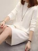 Women Elegant Dress Crew Neck Sheath Wool Knitted Dress