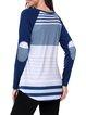 Paneled Crew Neck Classic Stripes Raglan Sleeve T-Shirt