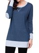 Fall Fashion Side Pocket Elbow Patch T-Shirts for Women