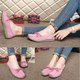 Bowknot Flat Heel Suede Slip On Loafers