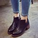 PU Winter Zipper Casual Chunky Heel Martin Boots