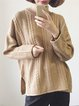 Polyester Long Sleeve Solid Crew Neck Sweater