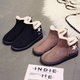 Fur Lined Suede Winter Slip On Boots