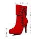 Buttoned Suede Zipper High Heel Boots