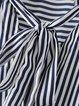 White Stripes Casual V Neck Blouse