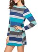 Long Sleeve Crew Neck Casual Ribbed Dress