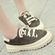 Athletic Non Slip Platform Suede Lace-up Sneakers