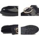 Metal Ring PU Casual Fur Lined Loafers