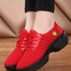 Breathable Lace-up Platform Cloth Sneakers