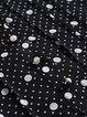 Black Printed V Neck Long Sleeve Cotton-blend Blouse