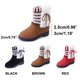 Flurry Bowknot Panel PU Snow Boots