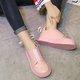 Bowknot Slip On Platform PU Loafers