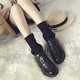 PU Panel Casual Lace-up Mid-calf Boots