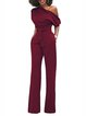 Polyester Half Sleeve Bodycon Plain Sexy Jumpsuits & Romper