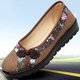Non Slip Floral Print Casual Flats