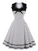Swing Women Cocktail Sleeveless Vintage Paneled Polka Dots Prom Dress