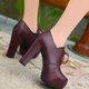Dress PU Platform Lace-up All Season Boots