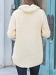 Knitted Plain Casual Acrylic Long Sleeve Tunic
