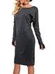 Sheath Faux Fur Casual Dress
