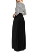 Women Casual Dress Crew Neck Going out 3/4 Sleeve Striped Dress