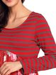 Long Sleeve Stripes Crew Neck Casual T-Shirt