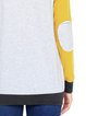 Casual Paneled Polyester Long Sleeve Crew Neck T-Shirt