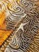 Yellow Shift Women Daytime Silk-chiffon Short Sleeve Paneled Abstract Elegant Dress