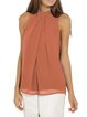Solid Folds Sleeveless Blouse