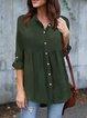 Casual Shawl Collar Polyester Shirts