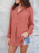 V Neck Long Sleeve Shirts & Blouse