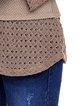 Paneled V Neck Spandex Elegant Long Sleeve TunicLong Sleeve V Neck Elegant Tunic Top