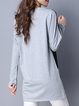 Black A-Line Long Sleeve Color-block Casual Top
