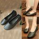 Large Size Casual Split Leather Flats