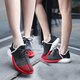 Breathable Lace-up Cloth Running Sneakers