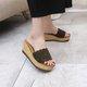 Elegant Faux Suede Wedge Heel Slippers