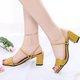 Convertible Chunky Heel PU Sandals