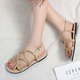 Metal Chain PU Adjustable Buckle Sandals