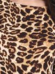 Brown Printed Leopard Print Sexy Crew Neck Dress