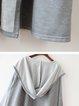 Casual Hoodie Cotton-blend Long Sleeve Coat