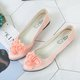 Three-dimensional Rose Suede Wedding Flats