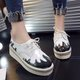 PU Lace-up Casual Platform Loafers