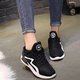 PU Lace-up Faux Fur Lined Sneakers