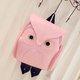 Women Stylish Street Owl Pattern Shape Backpack Shoulder Bag