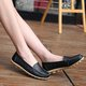 Women Large Size Hollow-out Split  Leather Flats