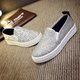 Casual Sequin Slip On Platform Loafers
